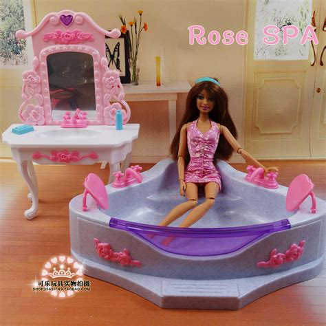 2014 new doll furniture accessories for barbie sofa new christmas birthday gift children bathtub dressing