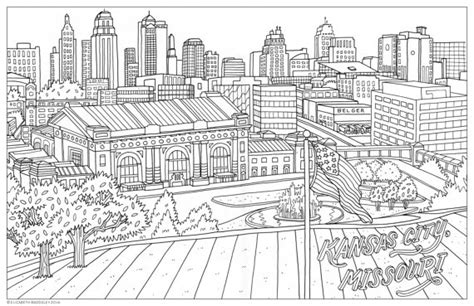 city skyline coloring pages pictures to pin on pinterest