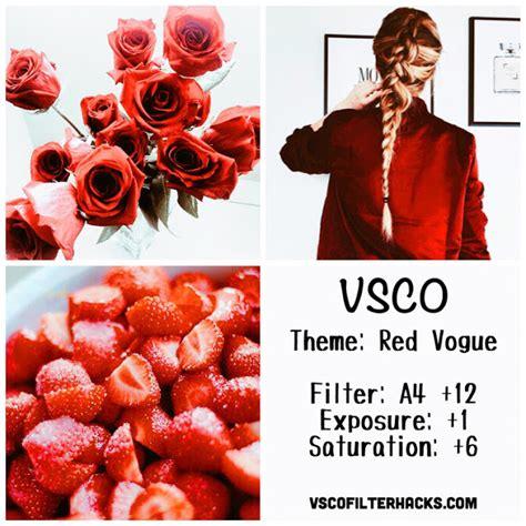 Vsco Cam Tutorial Pdf | red vogue instagram feed using vsco filter a4 instagram
