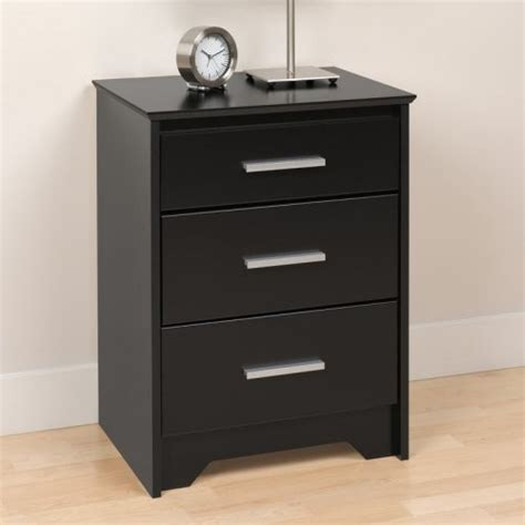 3 Drawer Black Nightstand by Coal Harbor 3 Drawer Nightstand Black Modern