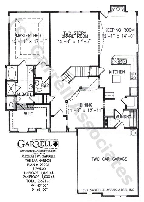 floor plan bar bar harbor house plan house plans by garrell associates