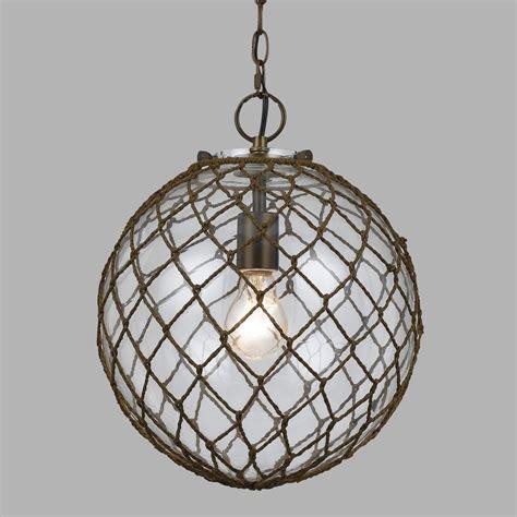 round glass pendant light round wrapped bubble glass burnett pendant l