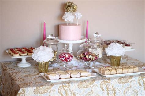 pink and gold bridal shower theme 35 delicious bridal shower desserts table ideas table decorating ideas