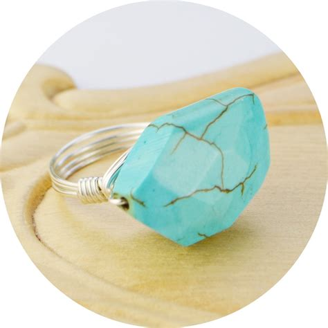 sale turquoise colored gemstone ring sterling by