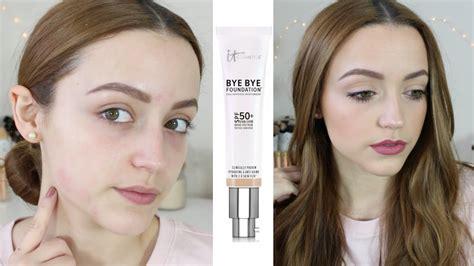 bye bye foundation light review demo it cosmetics bye bye foundation youtube