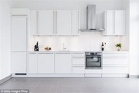 Clean Your Kitchen by Why You Should Never Get An All White Kitchen Daily Mail