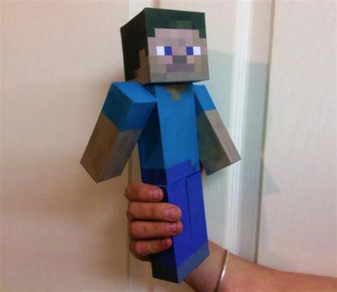 How To Make A Paper Steve - papermau minecraft steve paper model character