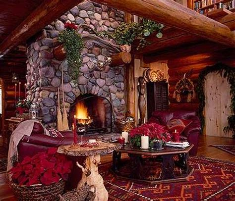 christmas decorating ideas for log homes in a cozy log cabin 171 country living