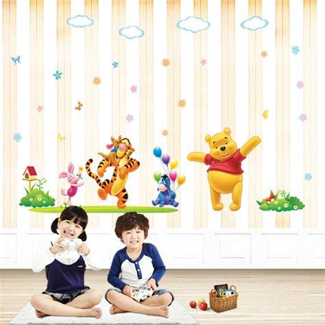 wallpaper dinding kartun lucu kartun hewan stiker dinding vinil untuk kamar anak