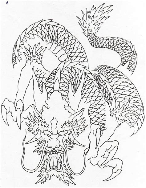 dragon tattoo outline designs traditional outline pictures to pin on