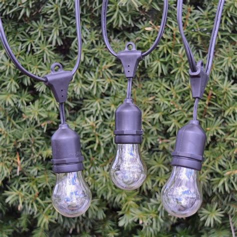 medium base string lights 21 quot medium base suspended vintage light strand