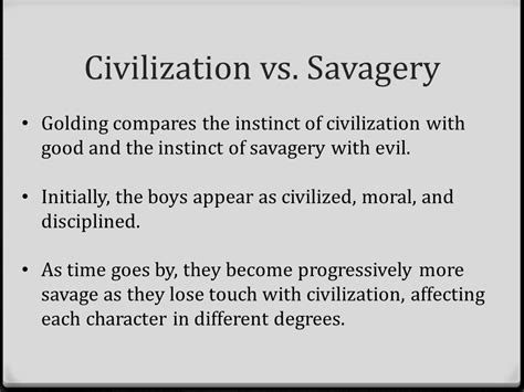 lord of the flies theme civilization vs savagery quotes themes conflict and symbols ppt video online download