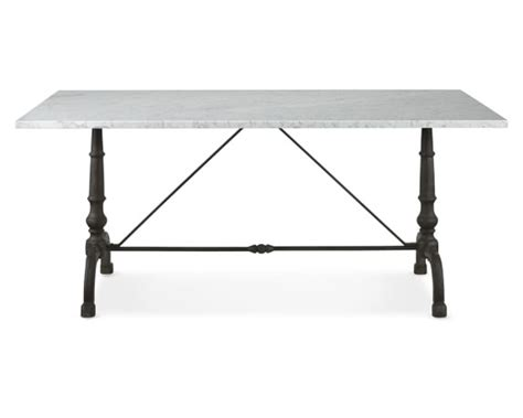 rectangular bistro table la coupole rectangular iron bistro table with marble top