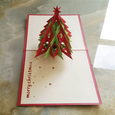 Handmade New Year Greeting Cards - 3d pop up handmade chirstmas card happy new year greeting