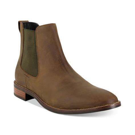cole haan boots mens cole haan lennox hill chelsea boots in brown for