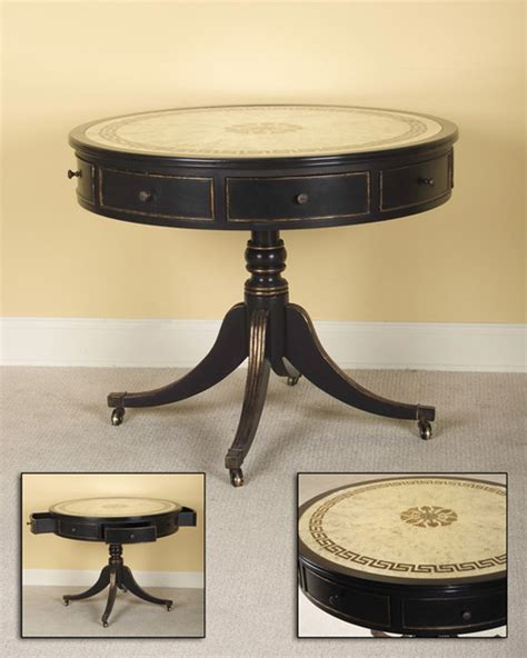 round drum accent table john richard 30x37x37 round drum table contemporary