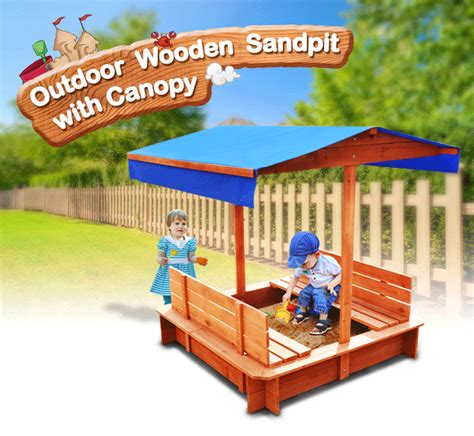 kids play bench kids sandpit outdoor wooden sandbox canopy bench play toy