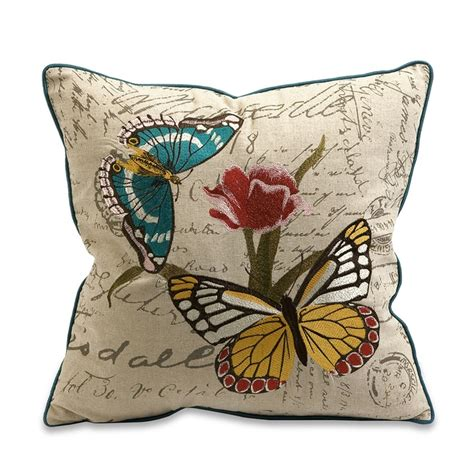 Butterfly Pillows by Embroidered Butterfly Pillow Sewing