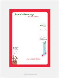 free printable letter from santa template letter from santa mr printables
