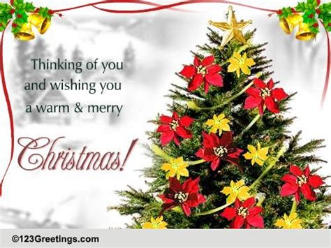 warm  merry christmas  flowers ecards greeting cards