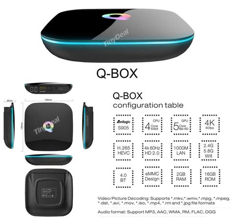 mediaplayer android q box android mediaplayer 2gb 16gb 65 gadgets from china