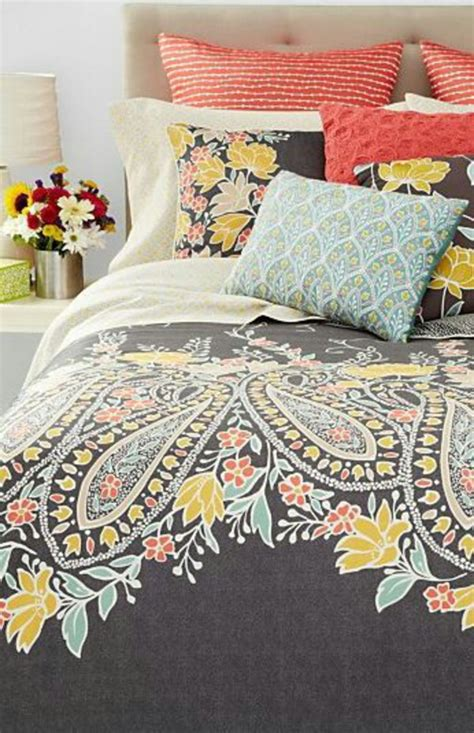 gray and coral bedding home accessory paisley coral turquoise grey bedding