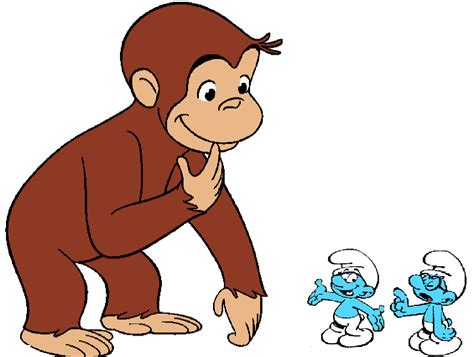 curious george curious george and smurfs six inches of