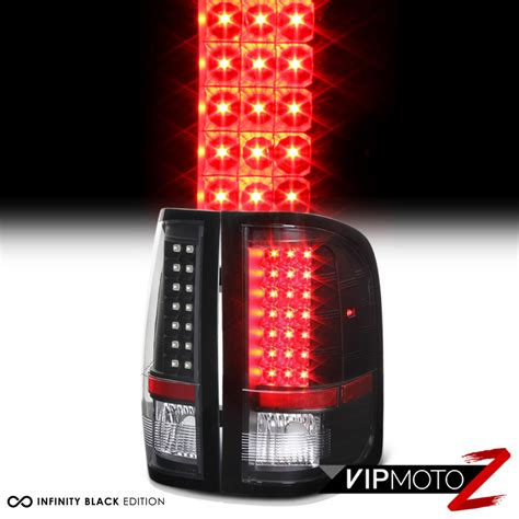 2013 silverado led tail lights 2007 2013 chevy silverado v8 1500 2500hd 3500hd black led