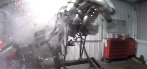 entire engine block explodes  whats  possibly   violent dyno session