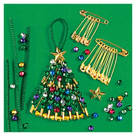 safety pin beaded tree craft kit findgift com