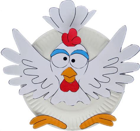 paper plate chicken craft paper plate chicken craft