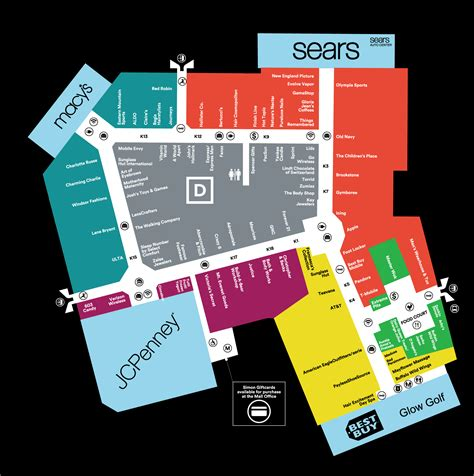 Floor Plan Of Shopping Mall by Mall Map Of The Mall Of New Hampshire A Simon Mall