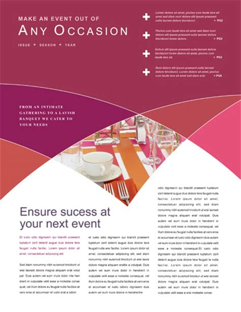 event newsletter template newsletter layout 171 graphic design ideas inspiration