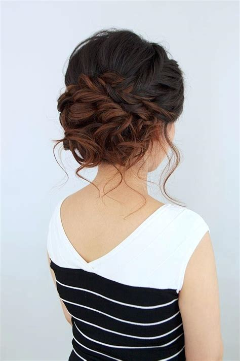 Bridesmaid Hairstyles For Medium Curly Hair by Unique Bridesmaid Hairstyles For Medium Length Hair Prom