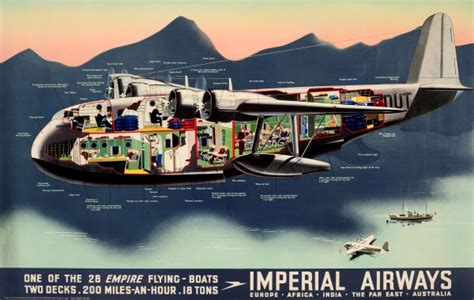 flying boat poster original vintage posters gt advertising posters