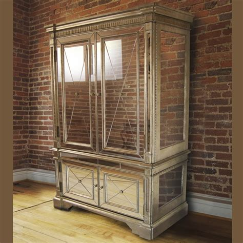 antique mirror armoire tv cabinet style