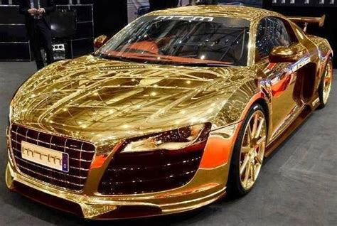 gold car golden cars awesome audi r8 and cars