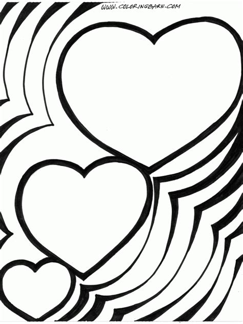 free coloring pages of fancy heart