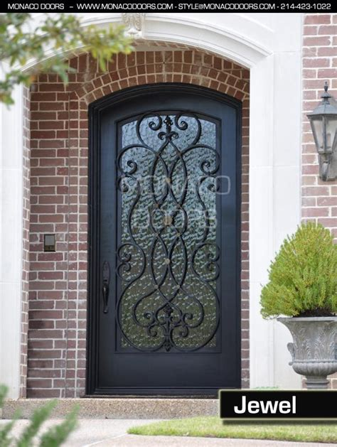 Wrought Iron Exterior Door Ornamental Iron Doors Monaco Doors