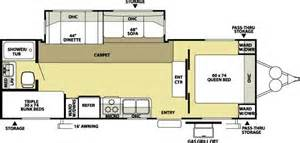 Wildwood Trailers Floor Plans by 2008 Forest River Wildwood 26tbss Travel Trailer