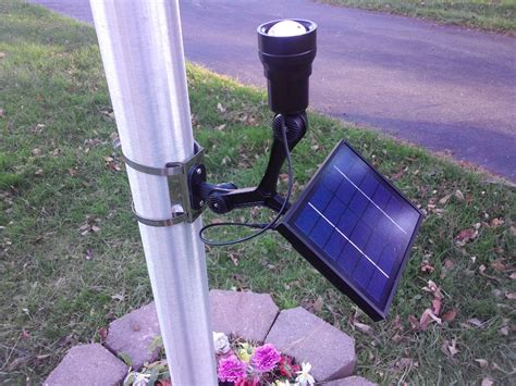 solar light for flag pole polepal solar flagpole lighting system product details