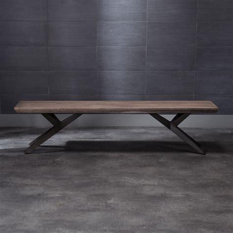 bench metal legs chana bench x shape metal legs grey artemano