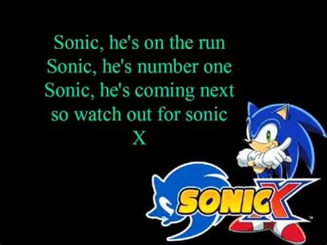 x themes songs from the unknown sonic x opening theme song with lyrics youtube