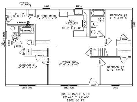 Ranch Style Floor Plan by Impressive Single Story Ranch Style House Plans 4 Ranch