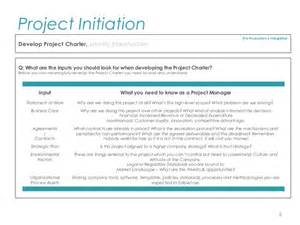 Project Charter Pmp Template by Pmp Project Initiation Template For Professionals