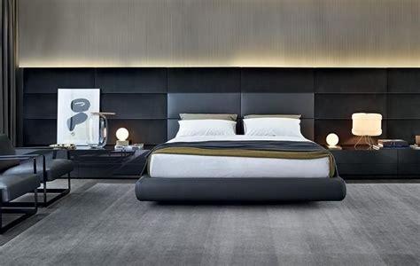 meuble moderne 2427 shellon bed par poliform italia en gris anthracite