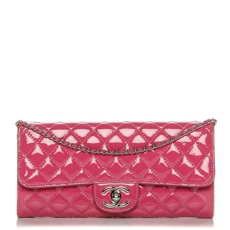 Poses With Chanel Flower Flap As Clutch by Chanel Patent Quilted Clutch Chain Flap Fuchsia 192583