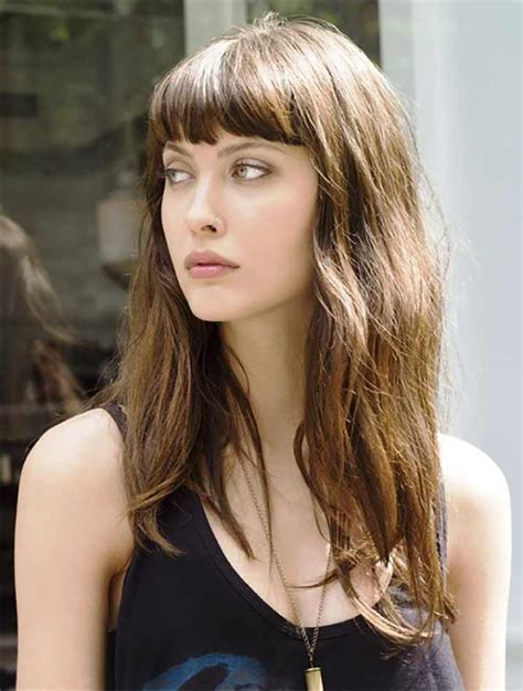 Fringe Bangs Hairstyles by Go Gala With Fringe Hairstyles Muvicut Hairstyles For