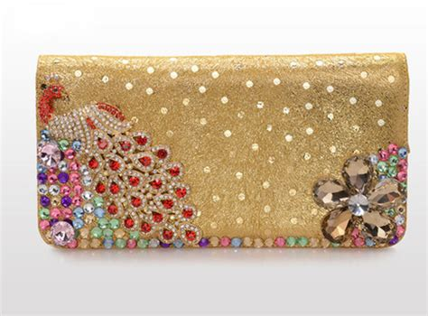 Clutch Bag D2414 Sale Fashion Branded Import unique rhinestone sequin leather peacock clutch bag wallet 183 needit 183 store powered by