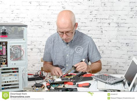 Hardware Technician by Technician Repairing Computer Hardware In The Lab Stock Photography Cartoondealer 29458160